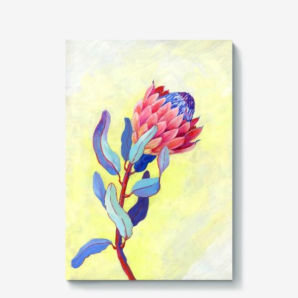 Холст «Яркий цветок протея»