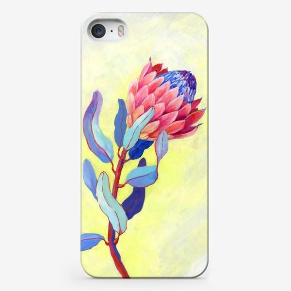 Чехол iPhone «Яркий цветок протея»