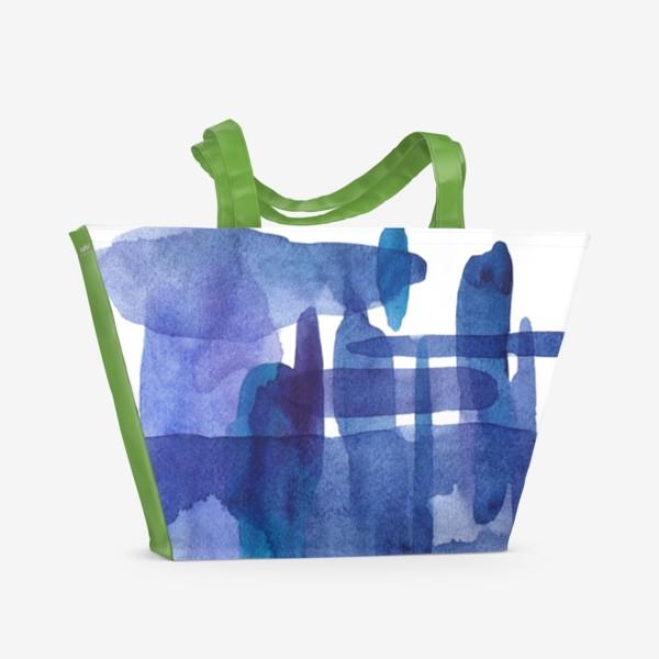 Пляжная сумка «Акварель. Абстракция»