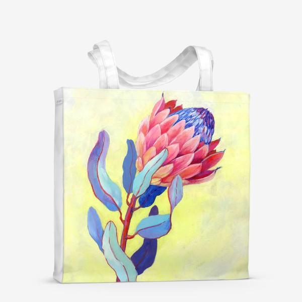 Сумка-шоппер «Яркий цветок протея»