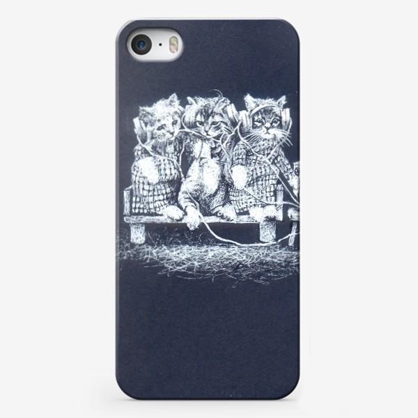 Чехол iPhone «Три кота, музыка»