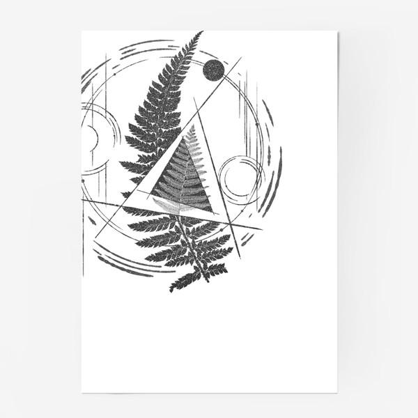 Постер «Fern Abstract Tattoo»