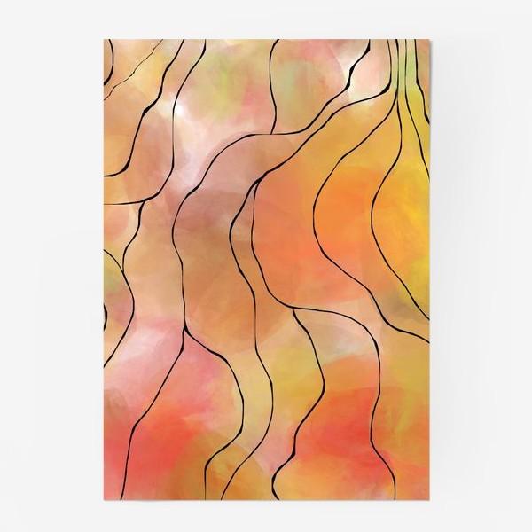 Постер «Осень. Оранжевая абстракция. Батик»