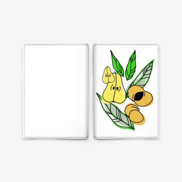 Обложка для паспорта «Груши и персики»