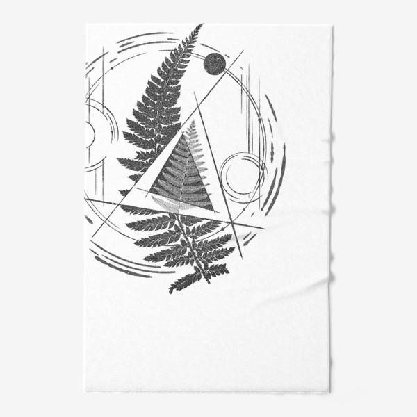 Полотенце «Fern Abstract Tattoo»