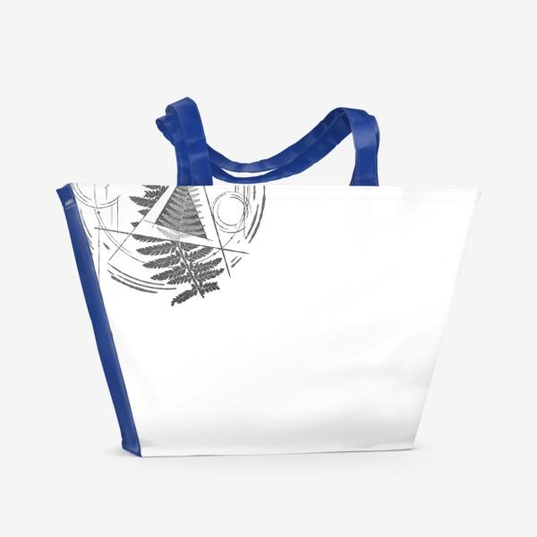 Пляжная сумка «Fern Abstract Tattoo»