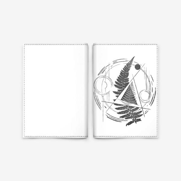 Обложка для паспорта «Fern Abstract Tattoo»