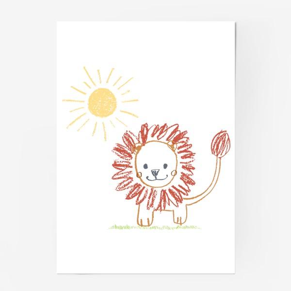 Постер «Львенок/рисунок/графика»