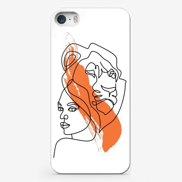 Чехол iPhone «Девушка-Лев»