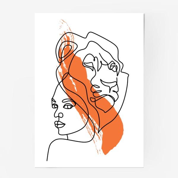 Постер «Девушка-Лев»