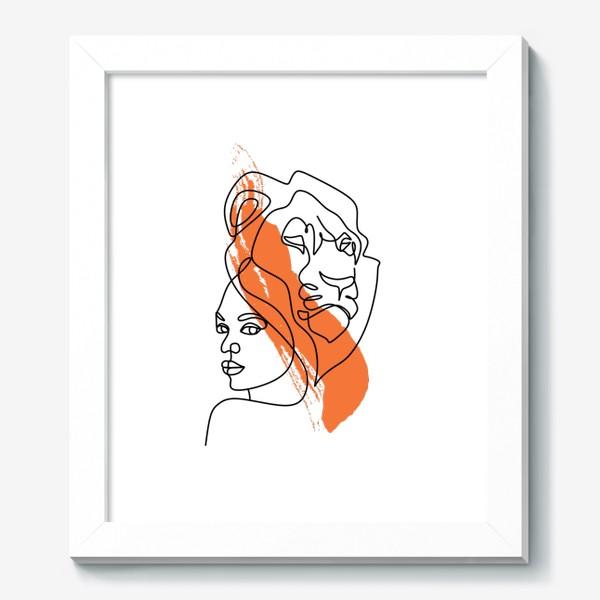 Картина «Девушка-Лев»