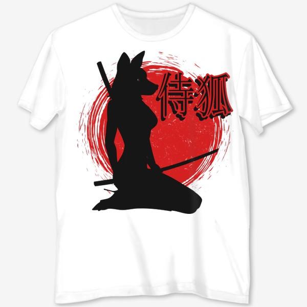 Футболка с полной запечаткой «Samurai Lady Fox»