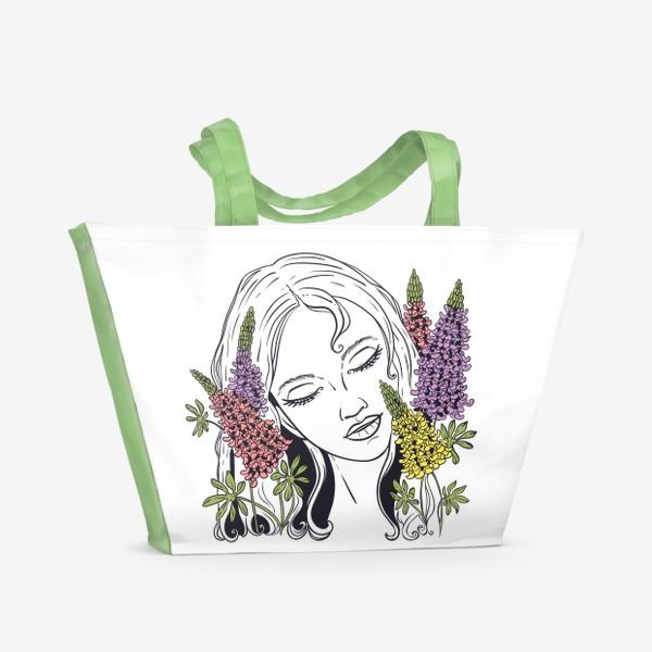 Пляжная сумка «Люпины»
