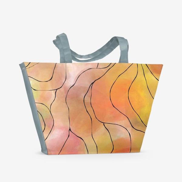 Пляжная сумка «Осень. Оранжевая абстракция. Батик»