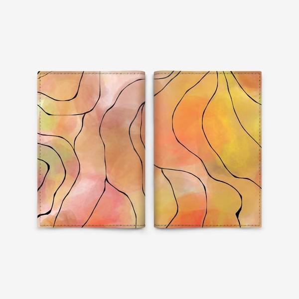 Обложка для паспорта «Осень. Оранжевая абстракция. Батик»