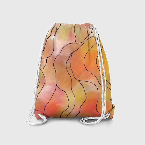 Рюкзак «Осень. Оранжевая абстракция. Батик»