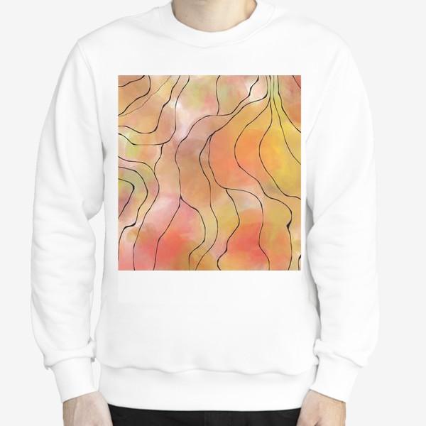 Свитшот «Осень. Оранжевая абстракция. Батик»