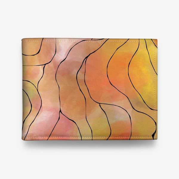 Кошелек «Осень. Оранжевая абстракция. Батик»