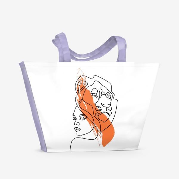 Пляжная сумка «Девушка-Лев»