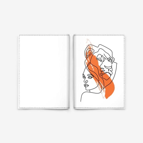 Обложка для паспорта «Девушка-Лев»