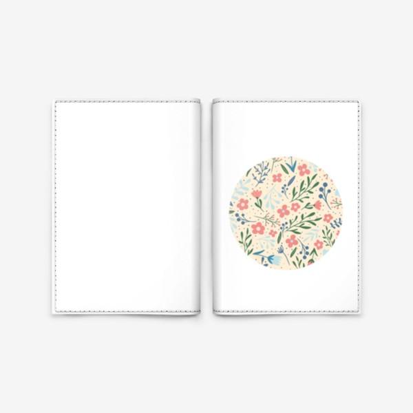 Обложка для паспорта «Цветочный паттерн принт лето»