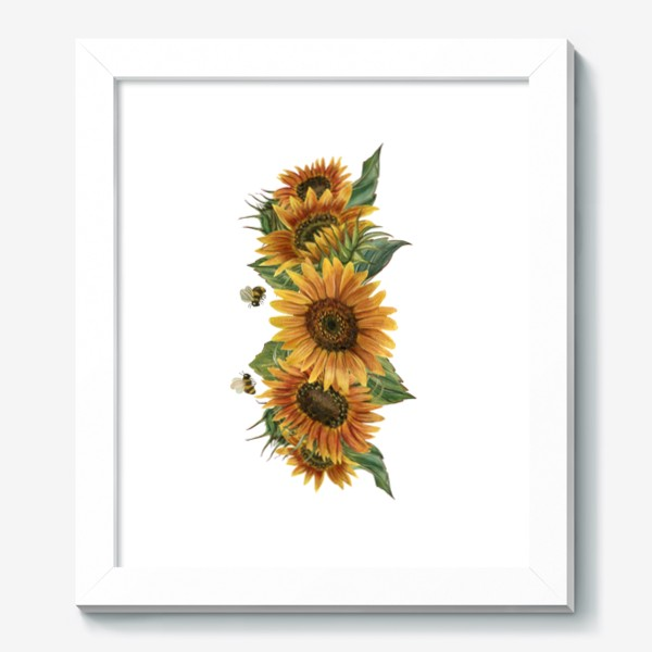 Картина «Подсолнухи и пчелы»