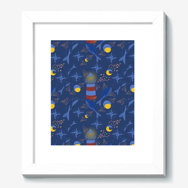Картина «Кит, ночь, маяк»