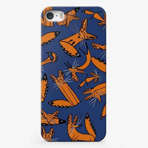 Чехол iPhone «Фенек, большеухая лисица, паттерн»