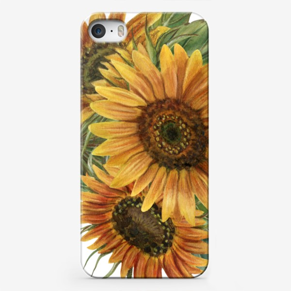 Чехол iPhone «Букет подсолнухов»