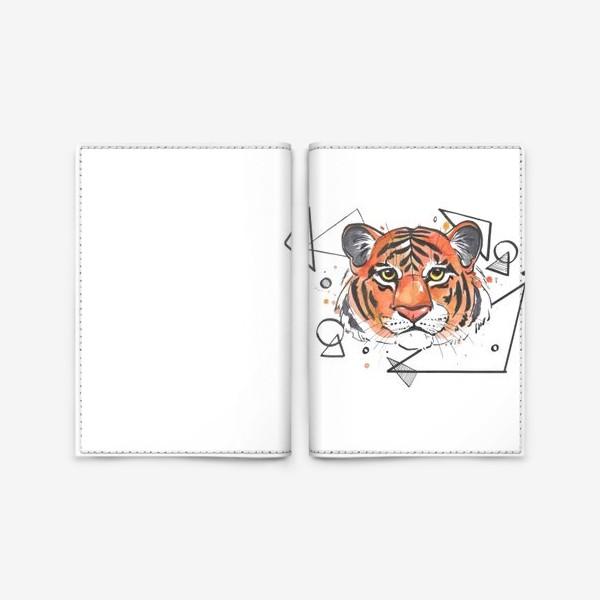 Обложка для паспорта «тигр графика»