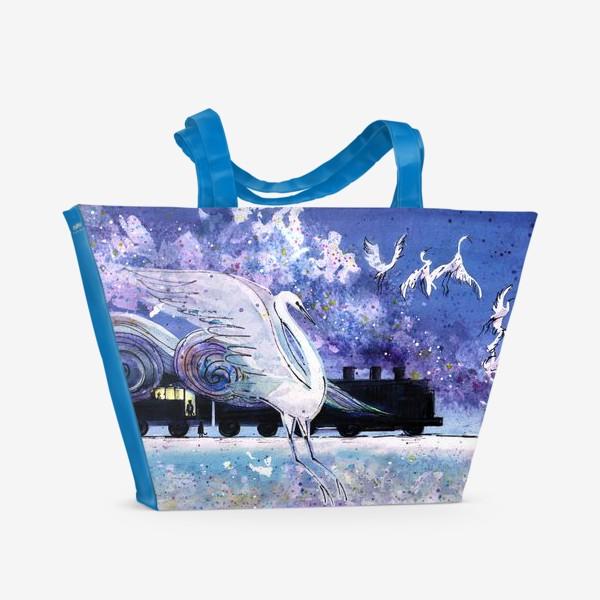 Пляжная сумка «Кэндзи Миядзава Ночь в поезде на Серебряной реке»