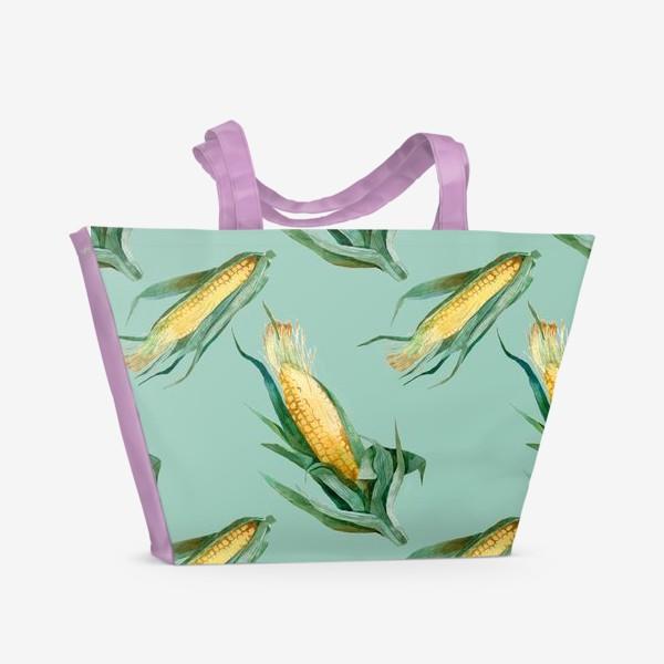 Пляжная сумка «Паттерн Кукуруза»