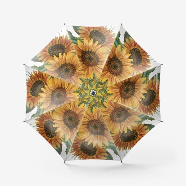 Зонт «Букет подсолнухов»
