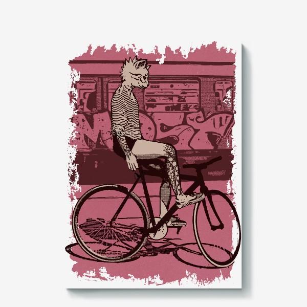 Холст «Underground Cat Rider»