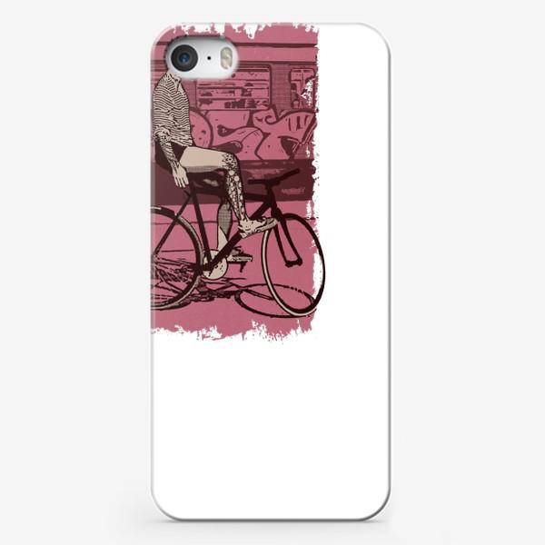 Чехол iPhone «Underground Cat Rider»