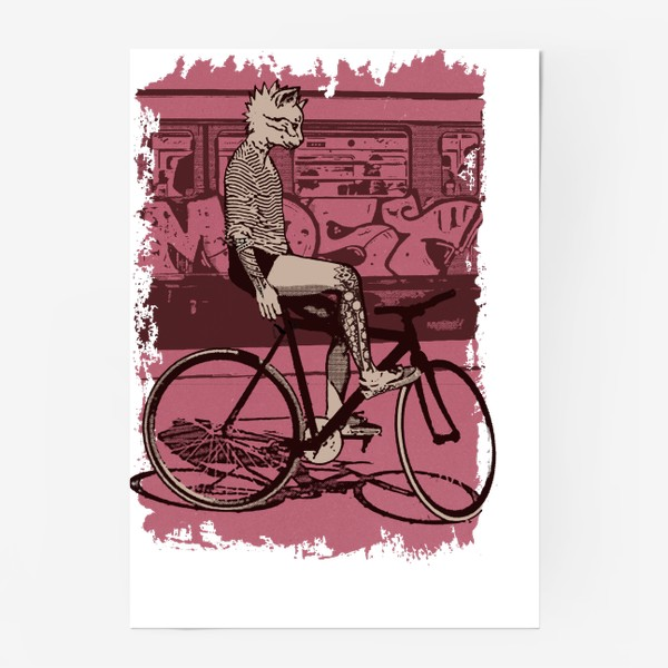 Постер «Underground Cat Rider»