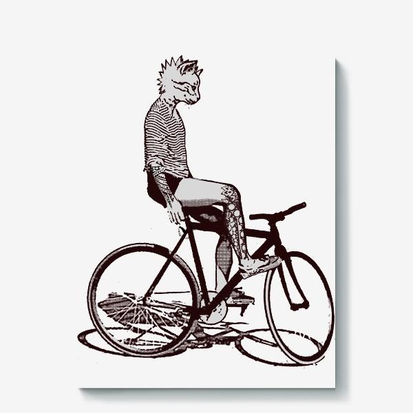 Холст «Underground Cat Biker»
