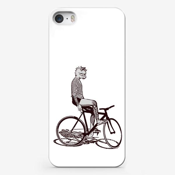 Чехол iPhone «Underground Cat Biker»