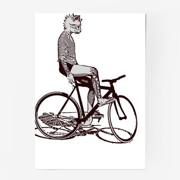 Постер «Underground Cat Biker»
