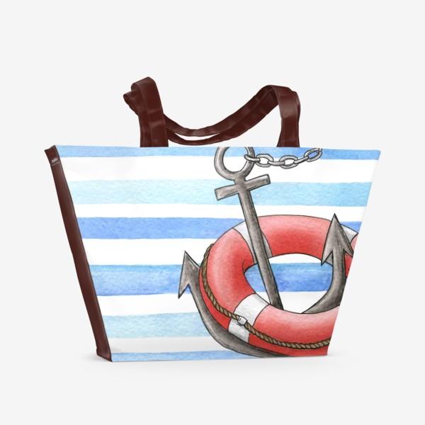 Пляжная сумка «Морская тема»
