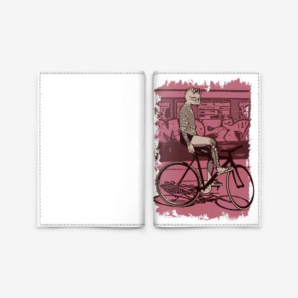 Обложка для паспорта «Underground Cat Rider»