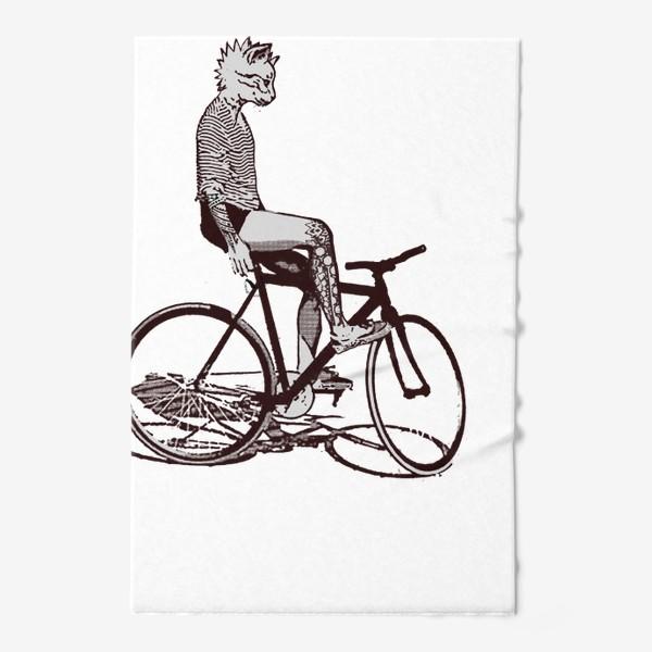 Полотенце «Underground Cat Biker»