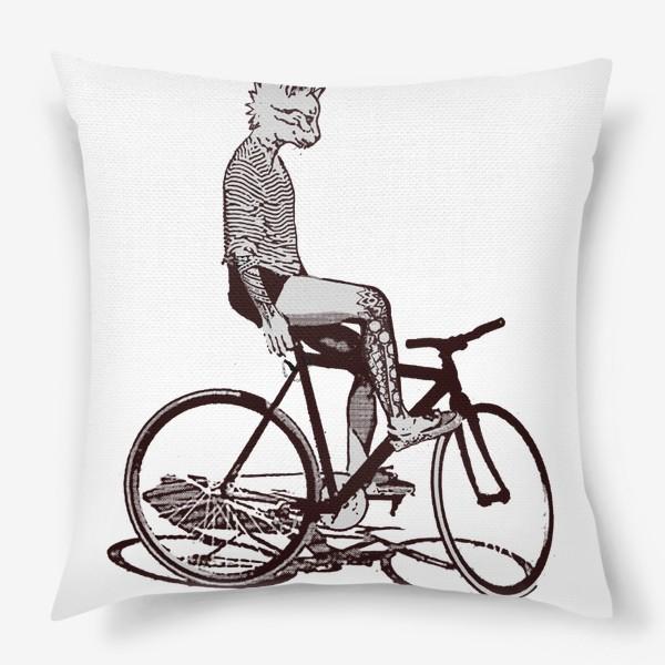 Подушка «Underground Cat Biker»
