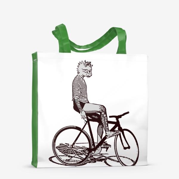 Сумка-шоппер «Underground Cat Biker»