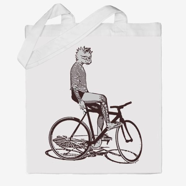 Сумка хб «Underground Cat Biker»