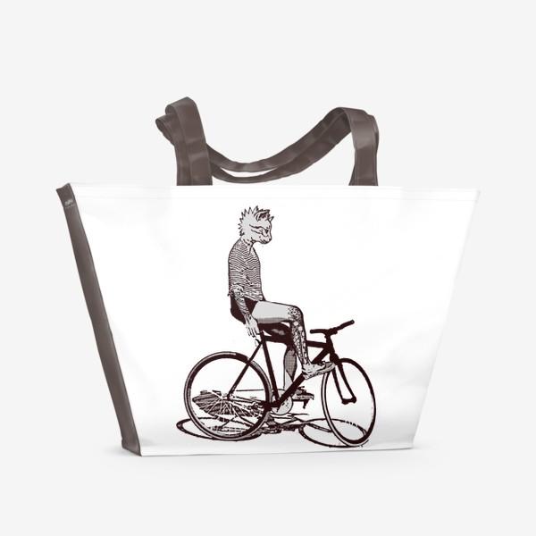 Пляжная сумка «Underground Cat Biker»