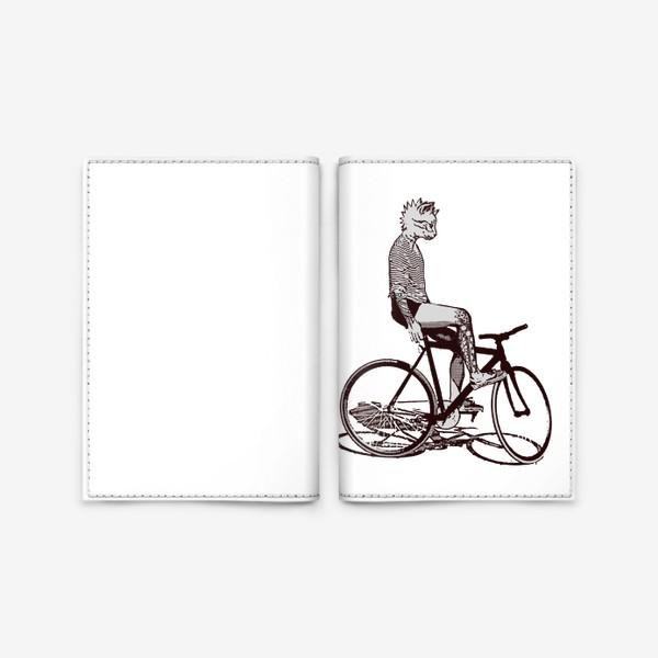 Обложка для паспорта «Underground Cat Biker»