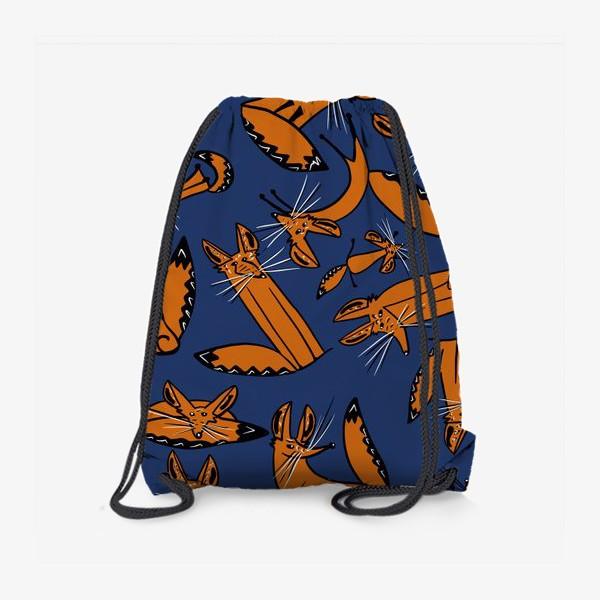 Рюкзак «Фенек, большеухая лисица, паттерн»