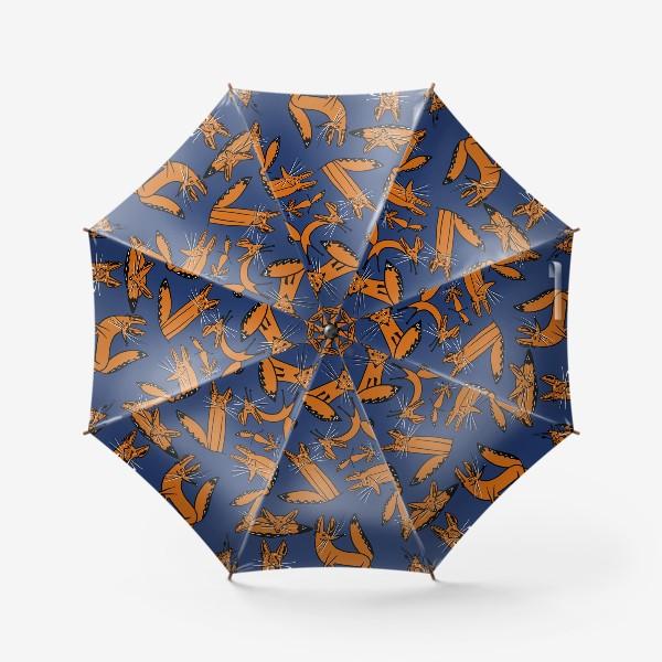Зонт «Фенек, большеухая лисица, паттерн»