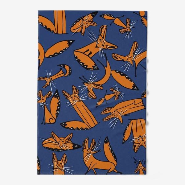 Полотенце «Фенек, большеухая лисица, паттерн»